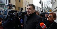 Экс-президент Грузии и лидер украинской оппозиции Михаил Саакашвили в Польше после депортации из Украины