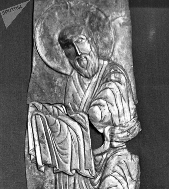 Изображение святого Семеона. Фрагмент иконы Сретение из села Лаилаши.