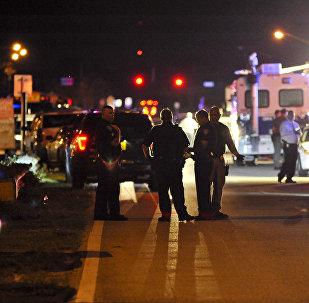პოლიცია შემთხვევის ადგილზე პარკლენდში