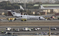 Самолет Иранских авиалиний, потерпевший крушение при посадке - архивное фото