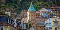 Центр Тбилиси - район Кала Убани, армянская церковь Сурб Геворг