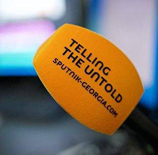 Микрофон Sputnik в студии агентства