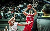 Матч между сборными Грузии и Австрии по баскетболу