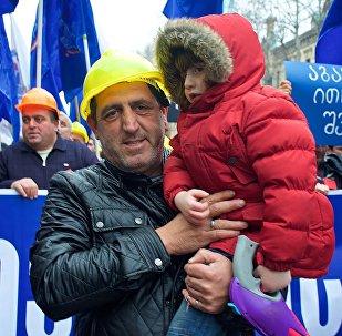Акция профсоюзов в защиту прав трудящихся