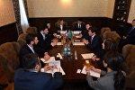 Встреча мэра Тбилиси Кахи Каладзе и акима Алматы Бауыржана Байбека