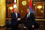 Премьеры Грузии и Армении Георгий Квирикашвили и Карен Карапетян