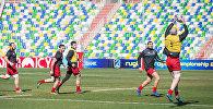 Тренировка сборной Грузии и сборной Испании по регби