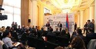 Пресс-конференция премьеров Грузии и Армении Георгия Квирикашвили и Карена Карапетяна