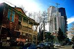 Район Ваке в Тбилиси - строительство нового высотного здания