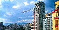 Строительство нового жилого дома в районе Сабуртало в столице Грузии