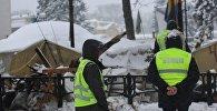 Полиция у палаточного городка в Киеве