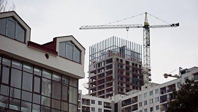 Строительство нового жилого дома в центре грузинской столицы