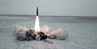 Искандер-М в действии: кадры пуска ракеты на полигоне Капустин Яр