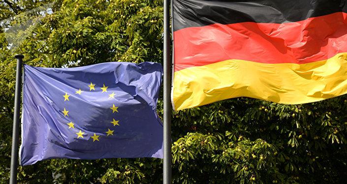 გერმანიის და ევროკავშირის დროშები