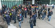 Шумное 8 Марта в Тбилиси: без цветов и с флагами ЛГБТ