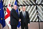 Президент Грузии Георгий Маргвелашвили и президент Европейского Совета Дональд Туск