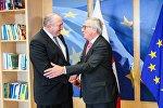 Президент Грузии Георгий Маргвелашвили и председатель Еврокомиссии Жан-Клод Юнкер