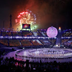 Церемония открытия Паралимпийских Игр-2018 в Пхенчане на олимпийском стадионе