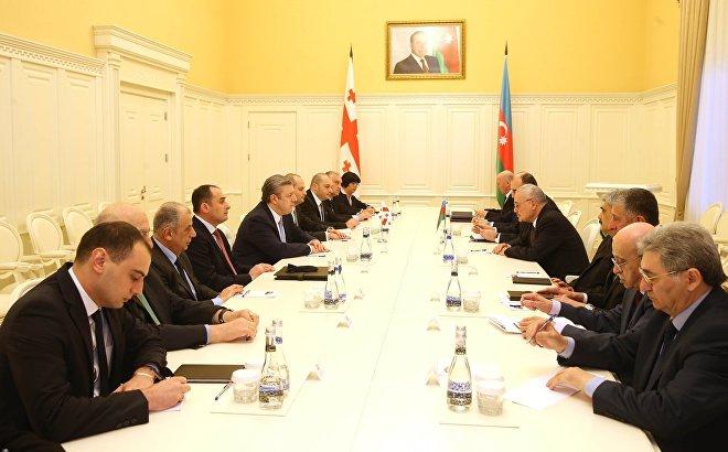 Официальная встреча премьер-министров Грузии и Азербайджана