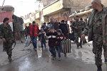 Эвакуация мирных жителей из Восточной Гуты в Сирии