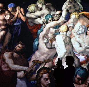 Показ мультимедийной выставки Микеланджело. Сотворение мира
