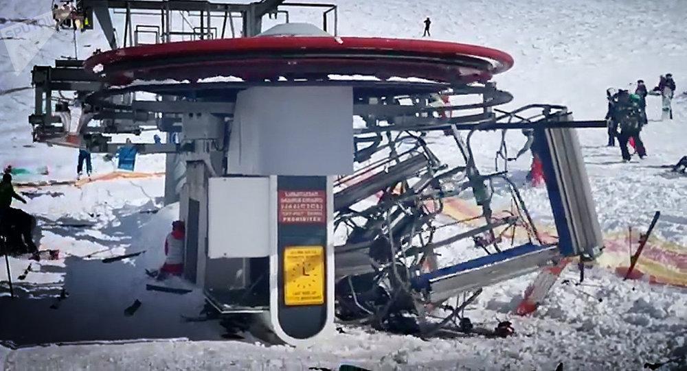 авария на канатке в Гудаури