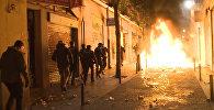 Массовые беспорядки в Мадриде: кадры уличных протестов