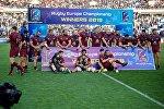 Игроки сборной Грузии празднуют победу в финале КЕН