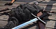 ჯაჭვის პერანგი და ხმალი