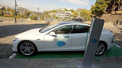 Первая станция по зарядке электромобилей в центре столицы Грузии