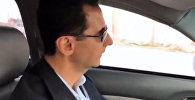 Асад на машине проехал по освобожденным районaм Восточной Гуты