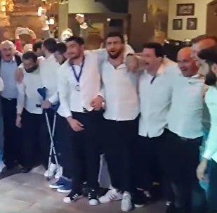 Грузинские регбисты отметили победу в рамках Кубка европейских наций