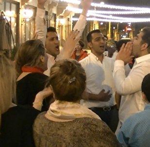 ირანელმა ტურისტებმა თბილისის ცენტრში ნოვრუზ-ბაირამი აღნიშნეს