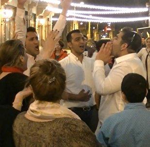 Как иранские туристы отметили в Тбилиси Навруз-байрам