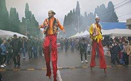 Празднование Новруз-байрам в Марнеули
