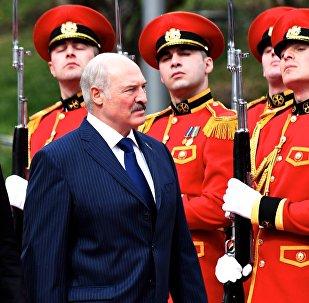 Президент Беларуси Александр Лукашенко в столице Грузии в президентском дворце