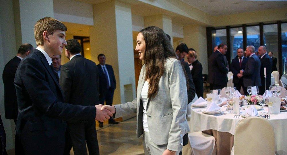 Президентские дети: Анна Маргвелашвили и Николай Лукашенко познакомились в Тбилиси