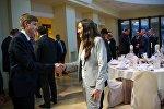 Дети президентов Украины и Грузии Николаем Лукашенко и Анна Маргвелашвили