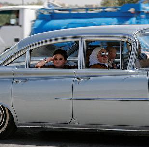 კლასიკური ავტომობილი ამანის ერთ-ერთ ქუჩაზე, იორდანია