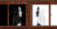 ახალგაზრდა ქალი - ნეგატივი