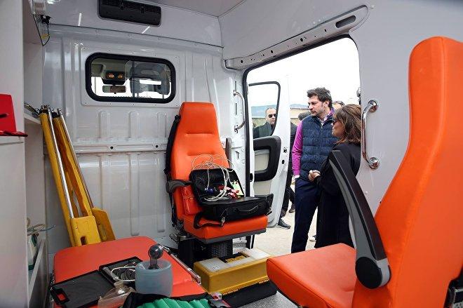 Новые автомобили скорой помощи в столице Грузии