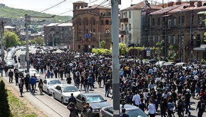 Площадь Франции в Ереване, акция протеста