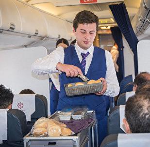 Репортер Sputnik решил испытать свои силы в роли стюарда пассажирского самолета
